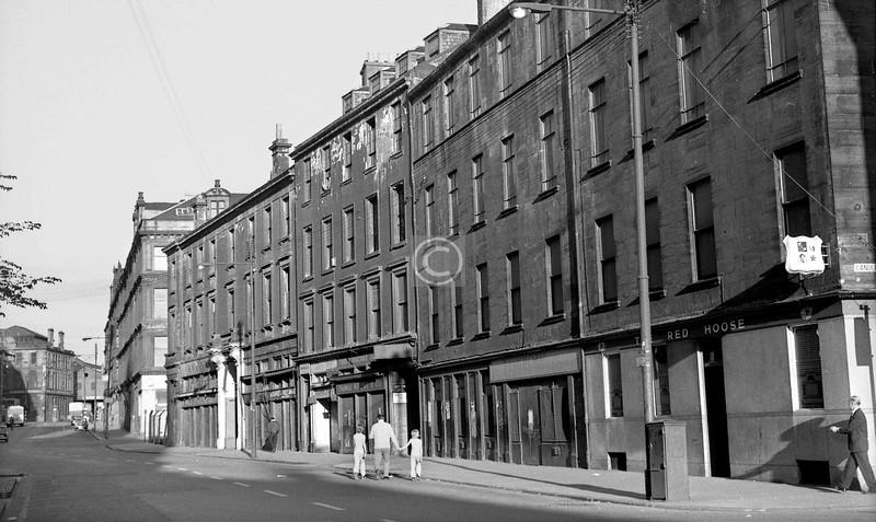 Ingram St, south side east of Candleriggs.  All gone.    July 1973
