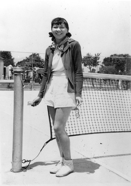 1950, Ruth Wong Ready for Tennis