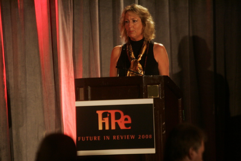 Sharon Anderson-Morris, SNS Programs Director, introduces FiRe staff and FiReStarter companies