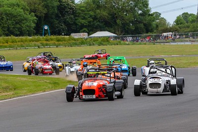 Crowds gather at Castle Combe