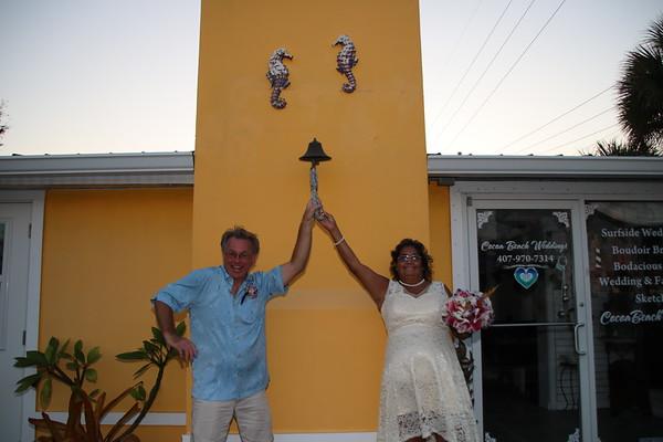 Patie and Darryl's Elopement Wedding on Cocoa Beach!