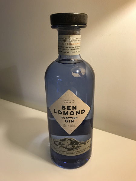 Ben Lomond 43% from the Loch Lomond Distillery