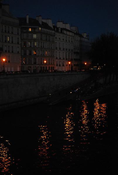 Seine at night.