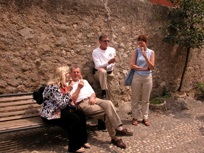 Gelato break, Malcesine / Ted Wenz Photo