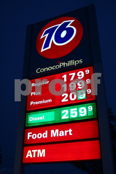 Price of gas on Dec. 21, 2008