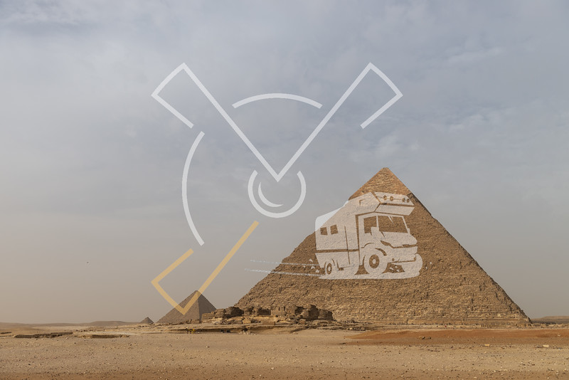 The Pyramid of Khafre or of Chephren[1] (Arabic: هرم خفرع, translit. haram ḵafraʿ, IPA: [haram xafraʕ]) is the second-tallest and second-largest of the Ancient Egyptian Pyramids of Giza and the tomb of the Fourth-Dynasty pharaoh Khafre (Chefren), who ruled from c.2558 to 2532 BC