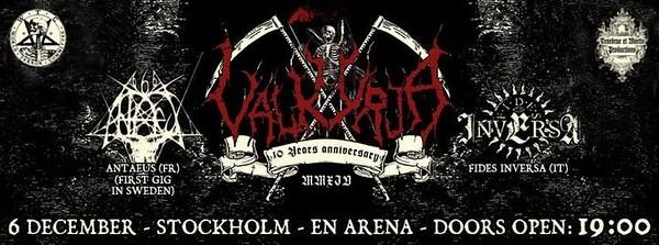 VALKYRJA  10 years anniversary - 6/12 2014 En Arena
