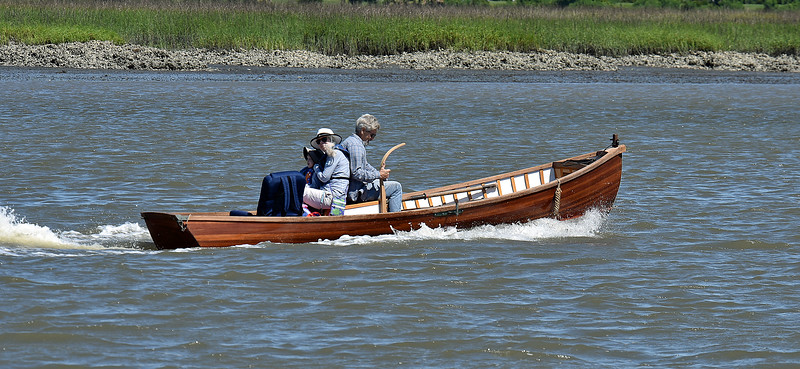 John Carswell in his home made skiff 05-14-19
