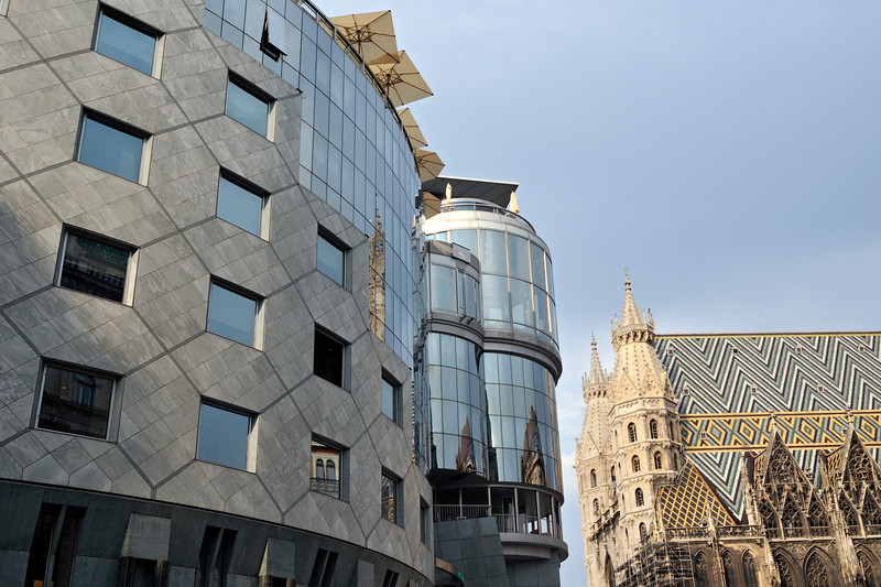 Haas-Haus Building and St. Stephen's Cathedral, Vienna, Austria