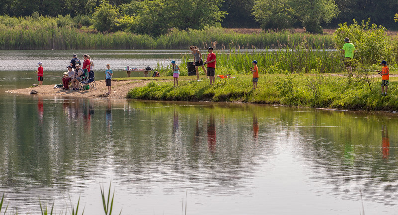 Over 170 area residents turned out Saturday, June 16, 2018 at the 2018 Hooked on Fishing event held by the McHenry County Conservation District at The Hollows Conservation area in Cary. KKoontz- For Shaw Media
