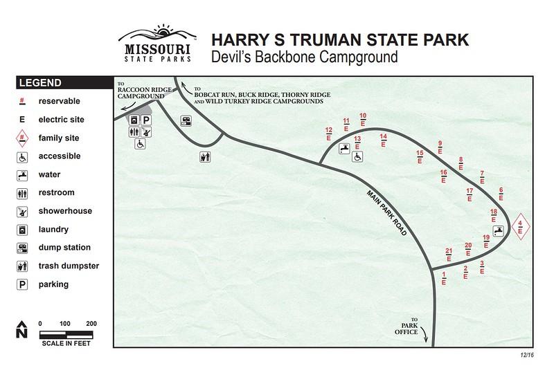 Harry S. Truman State Park (Devil's Backbone Campground)