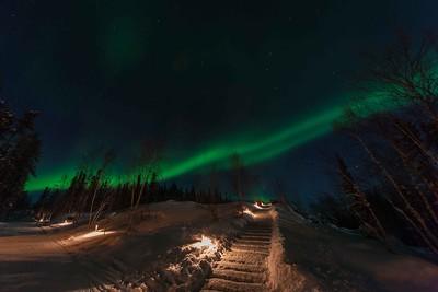 A glimpse of the Aurora Borealis 2014