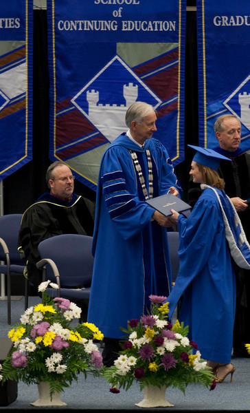EIU Spring Commencement held in the Lantz Gym on the campus of Eastern Illinois University on May 7, 2011. (Jay Grabiec)