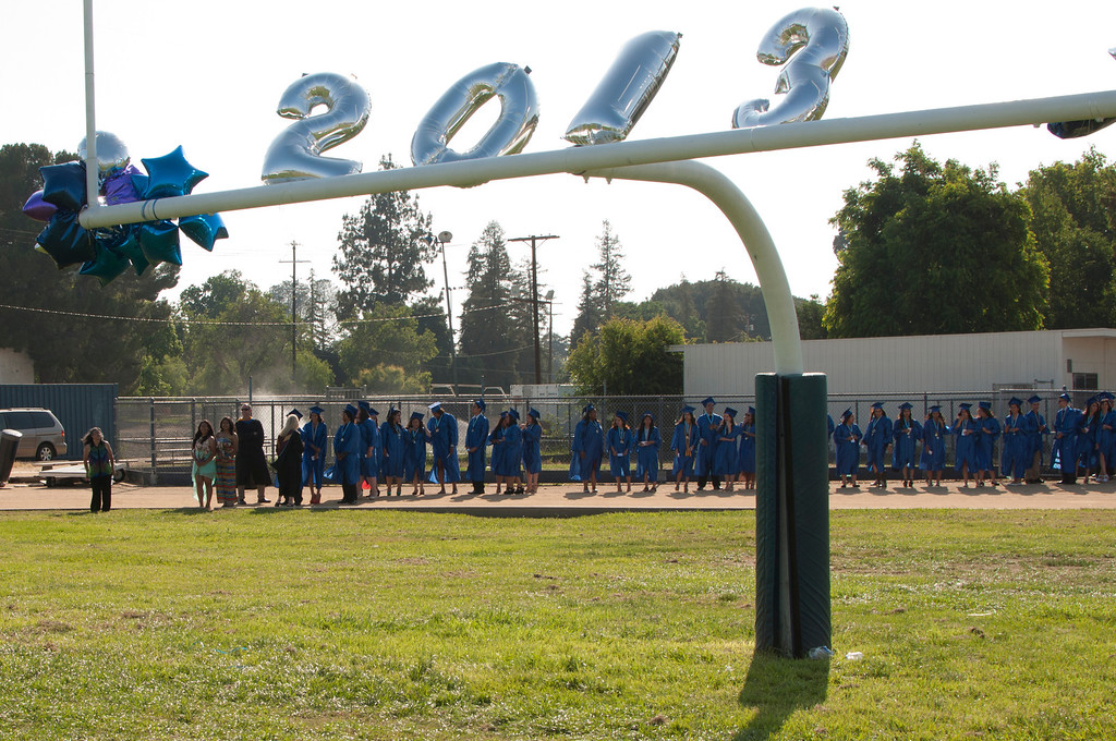 . The Reseda High School graduation class held their commencement in the school football field on Friday,  June 07, 2013 in Reseda, CA.   Photo by Carlos Carpio