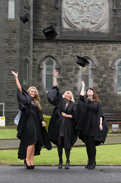 Pictured are Dierdre Cleary, Thurles, Bachelor of Science (Hons) in Psychiatric Nursing, Mags Keane, Waterford, Bachelor of Arts (Hons) in Visual Art and Susan Sayers, Tipperary, Master of Arts in Art & Heritage Management. Picture: Patrick Browne