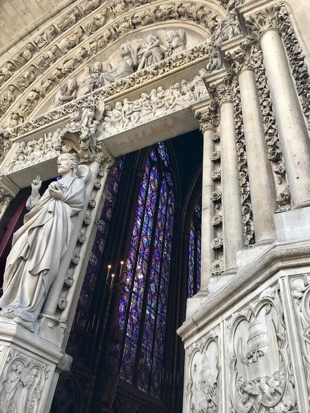 Entrance to the 13th century Sainte-Chapelle