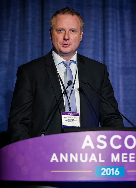 Andrew M. Evens, DO, MSc, presents Abstract 7507 during Hematologic Malignancies? Lymphoma and Chronic Lymphocytic Leukemia Oral Abstract Session