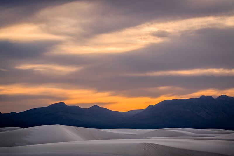 Dusk Light and Large Dunes