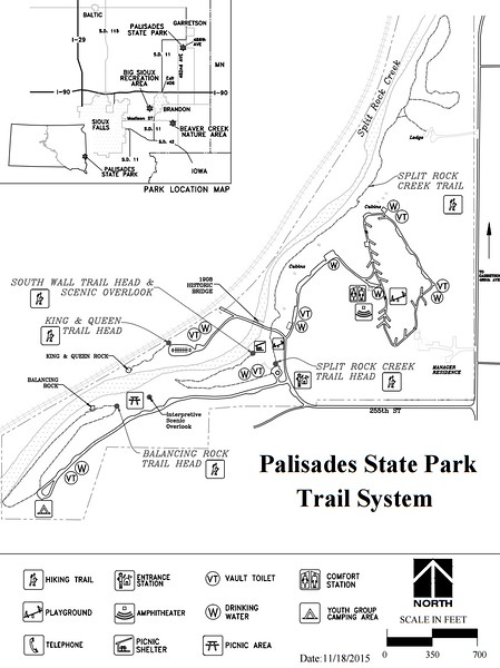 Palisades State Park (Trail Map)