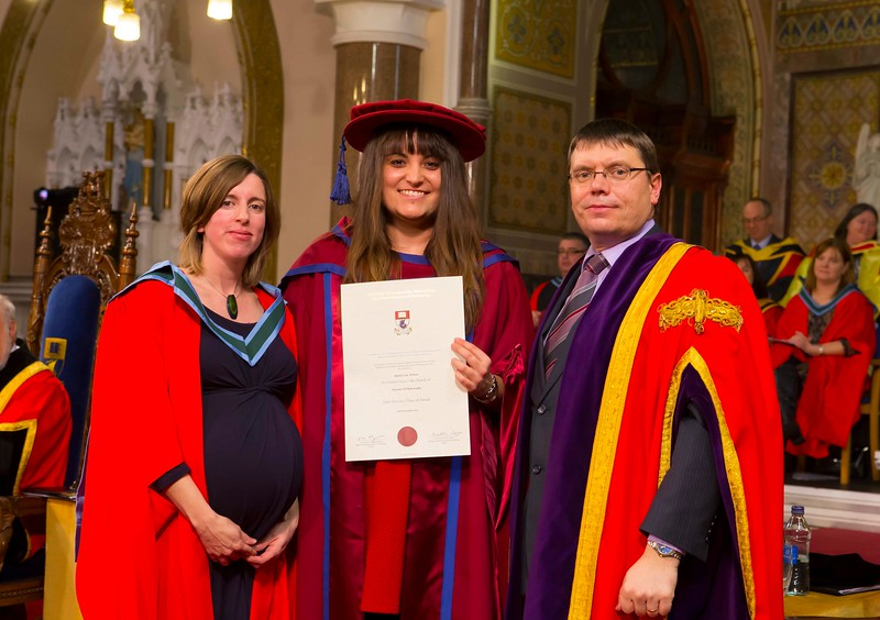 Waterford Institute Of Technology Conferring. Pictured at WIT Waterford Institute Of Technology Conferring is Maria Luz Prieto, Waterford who was conferred a Doctor of Philosophy from Dr. Ruaidhrí Neavyn, President, WIT. Picture: Patrick Browne