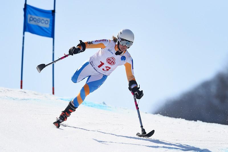 17-3-2017 SKIEN: 2017 WORLD PARA SKIEN WORLD CUP FINALS: PYEONGCHANG Anna Jochemsen. Giant slalom. Foto: Mathilde Dusol