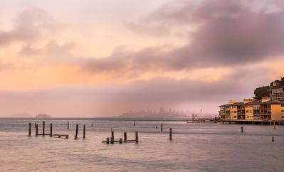 Foggy Sausalito Sunset