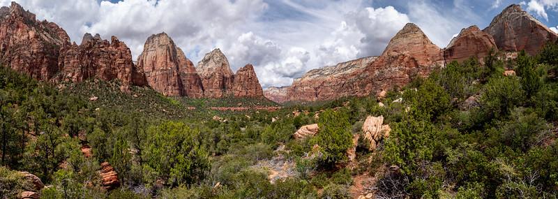 Across Zion Canyon