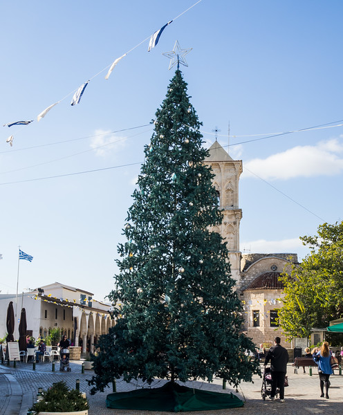 Christmas tree in Larnaca