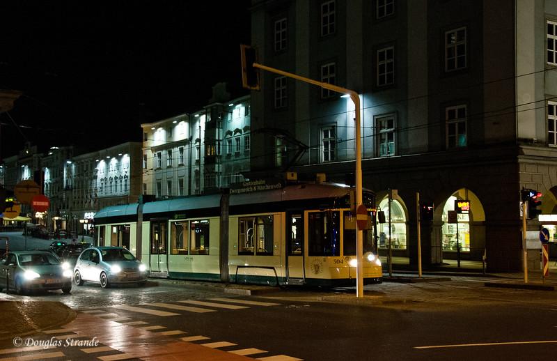 Trolley at night, Linz, Austria