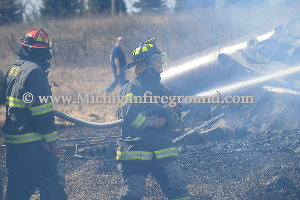 3/30/13 - Eaton Rapids Twp barn fire, 464 S. Smith Rd