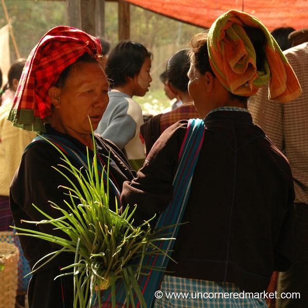 Women Exchanging News - Inle Lake, Burma