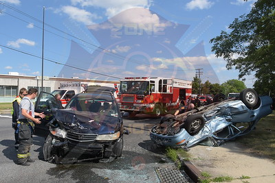 North Lindenhurst F.D. MVA w/ Overturn and Entrapment   Albany Ave. and New Hwy. 7/22/15