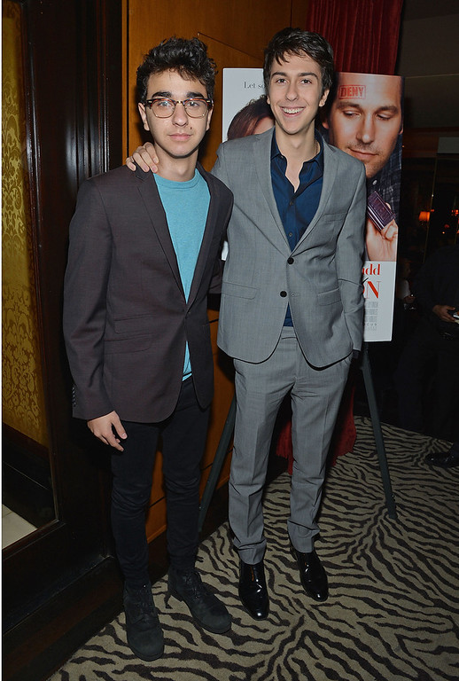 ". Alex Wolff (L) and Nat Wolff attend ""Admission\"" New York Premiere After Party at Monkey Bar on March 5, 2013 in New York City.  (Photo by Mike Coppola/Getty Images)"