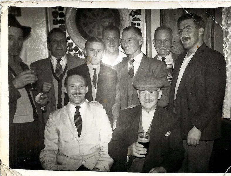 Elm Tree darts team 1958