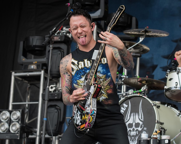 TRIVIUM AT THE ROCK ALLEGIANCE FESTIVAL