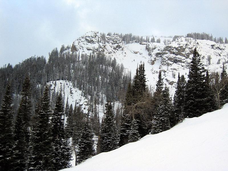 Jackson Hole mountain resort, looking towards summit   (Dec 11, 2006, 03:28pm)