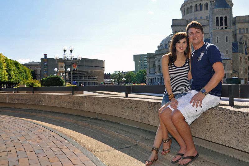 Boston - Ronald and Heather at Christian Science Grounds.jpg