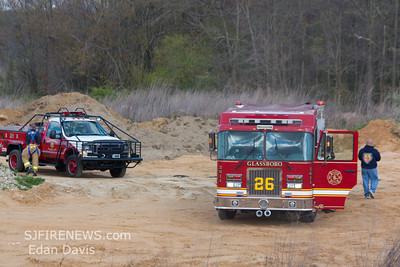 04-09-2012, Large Brush Fire, Glassboro, Gloucester County, Grande Blvd and Heritage Loop.