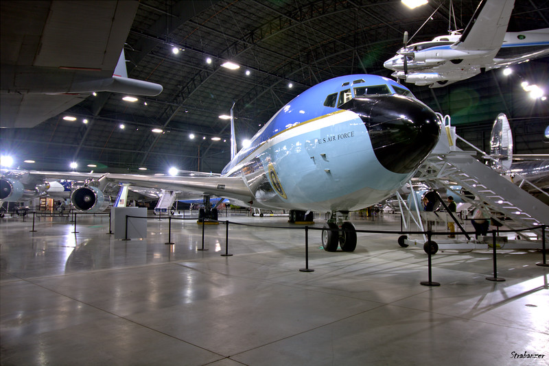 National Museum of the United States Air Force, Dayton, Ohio,   04/13/2019  Boeing VC-137C (707-353B) c/n 18461   62-6000     Presidential Aircraft           Beech VC-6A King Airc/nN LJ.91    66-7943    Presidential Aircraft  This work is licensed under a Creative Commons Attribution- NonCommercial 4.0 International License.