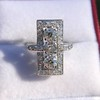2.40ctw Art Deco Old European Cut Diamond Geometric Dinner Ring 10