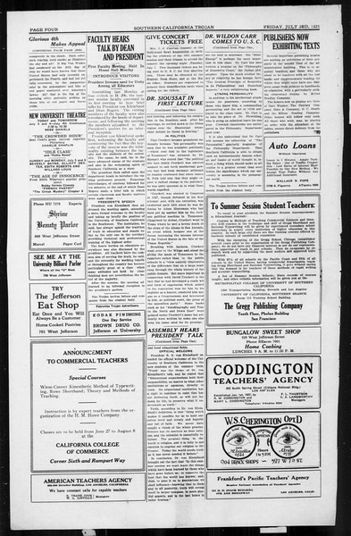 The Southern California Trojan, Vol. 4, No. 2, July 03, 1925