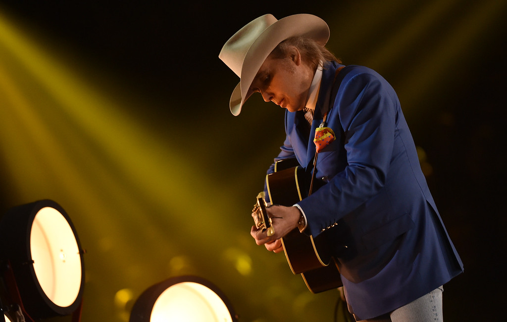 . Dwight Yoakam at the 57th annual Grammy Awards on Sunday, Feb. 8, 2015, in Los Angeles. (Photo by John Shearer/Invision/AP)