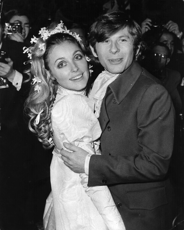 . American film actress Sharon Tate (1943 - 1969) at her London wedding with Polish actor and director Roman Polanski. Sharon was murdered by followers of Charles Manson, when heavily pregnant with Roman\'s baby.  (Photo by Keystone/Getty Images)