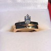 0.36ct Vintage Marquise Wedding Set 20