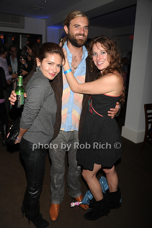 Flor Riccio,  Dave Best, and Samantha Ruddock attend the openig night party of the Hamptons International Film Festival at East Hampton Point (October 13, 2011)