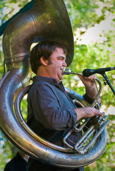 Matt Perrine-Jazz Sousaphone with John Ellis and Double Wide-2010 Twin Cities Jazz Festival---Mus-8022