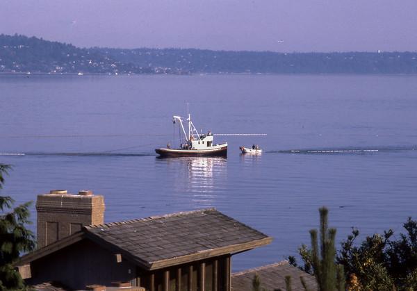 Purse Seining for Salmon off Glen Acres Vashon Island 1980