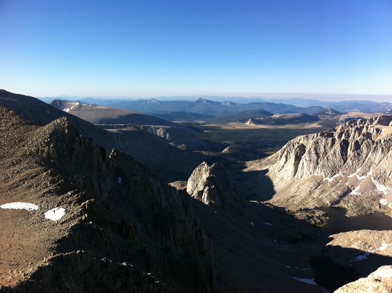 Taken with my iPhone.  Mt. Mallory summit view.  The Miter Basin.