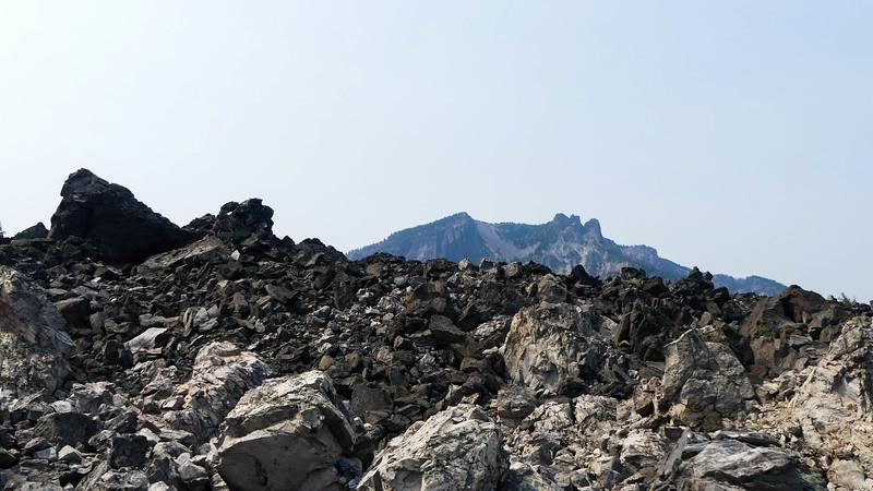 Paulina Peak from the Obsidian Flow
