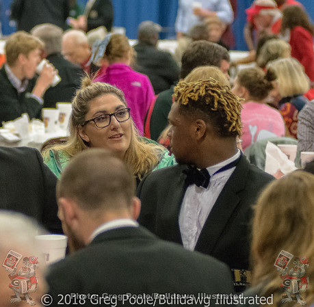 Kirby Smart and Fans at Anderson TD Club Awards Night